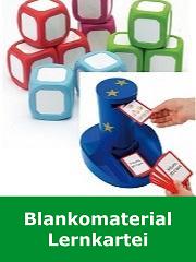 Lernkartei, Blankomaterial, Kartenhalter