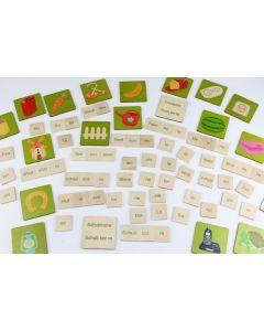 Wortbaukasten mit Holzplatten