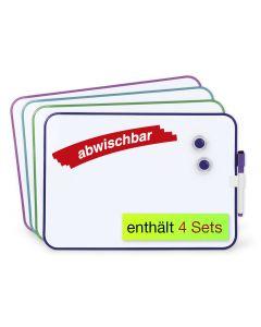 4er-Pack Whiteboards A4 für Gruppenarbeit