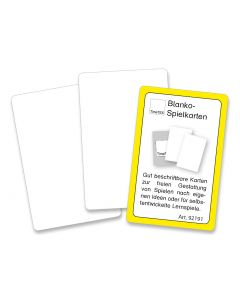 Blanko Spielkarten beidseitig weiß