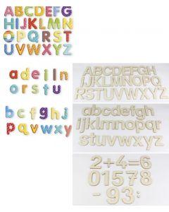 Buchstabenmaterial, Ziffern, Zeichen