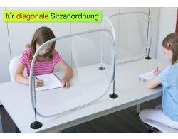 Hygiene-Schutzwand 3-teilig, U- und Z-Form, transparent