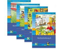 Max Paket Rechtschreiben (4 Mappen + Lerngerät)