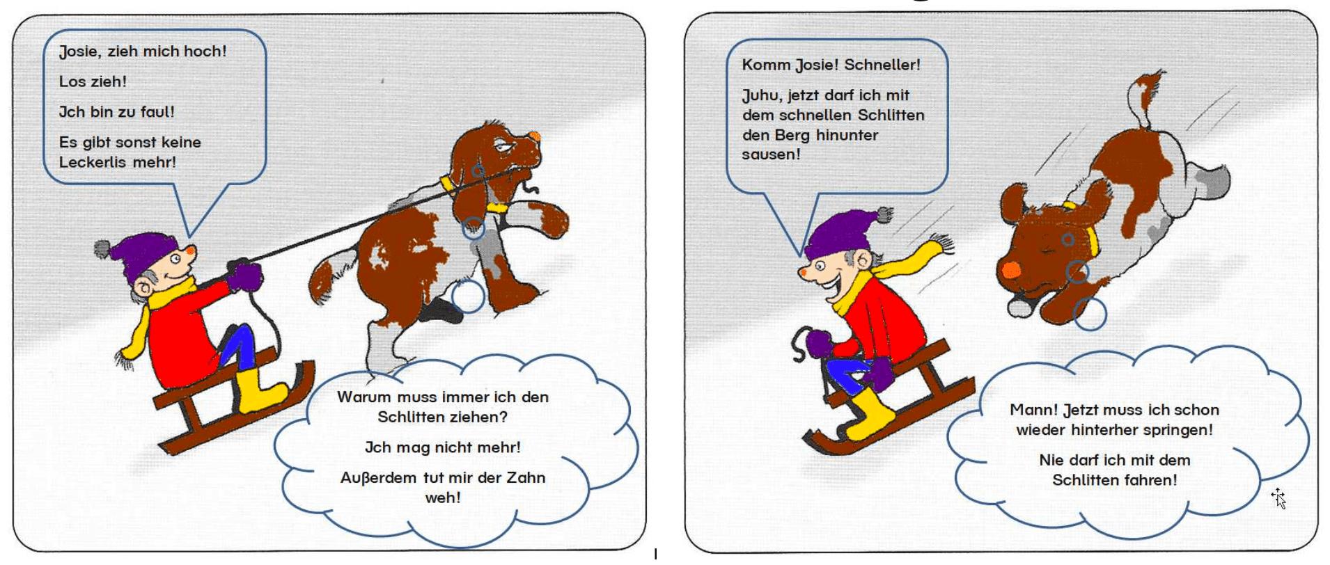 Hundegestützte Pädagogik Nachstellen von Szenen 1